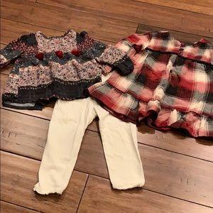 Zara Baby shirts (2) with Baby Gap leggings